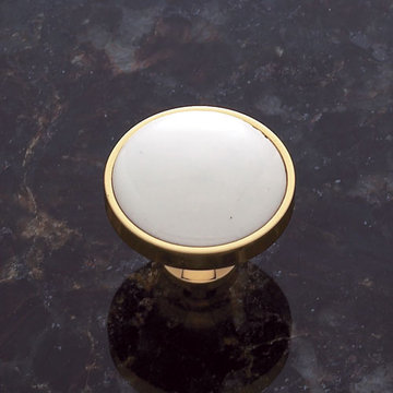Jvj Hardware Classic Collection Round Knob With Porcelain Center