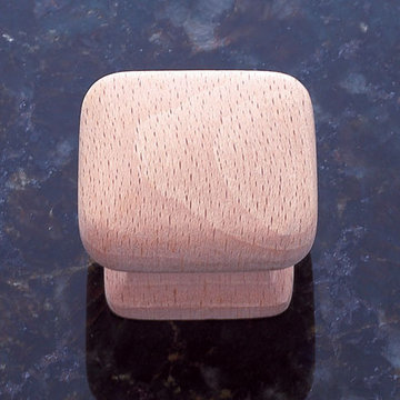 Jvj Hardware Classic Wood Collection Unfinished Square Knob