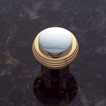 Jvj Hardware Contemporary Collection Ribbed Knob