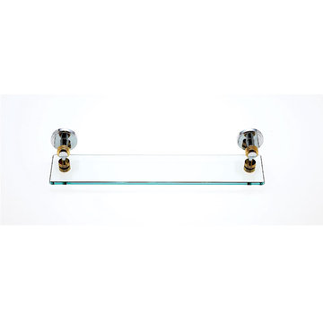 Jvj Hardware Contemporary Series Ribbed Glass Bathroom Shelf