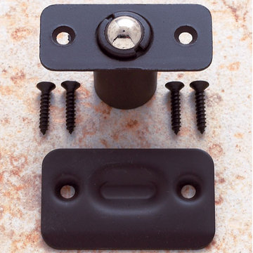 Jvj Hardware Drive-In Ball Catch With Face And Strike Plates