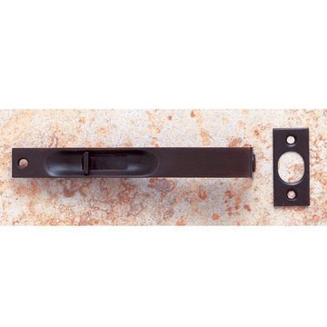 Jvj Hardware Flush Bolt With Square Corners