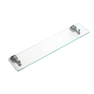 Jvj Hardware Liberty Series Glass Bathroom Shelf