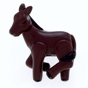 Jvj Hardware Novelty Collection Dark Brown Donkey Knob