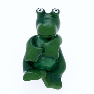 Jvj Hardware Novelty Collection Green Frog Knob