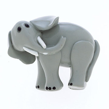 Jvj Hardware Novelty Collection Grey Elephant Knob