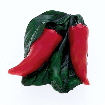 Jvj Hardware Novelty Collection Red Hot Pepper Knob