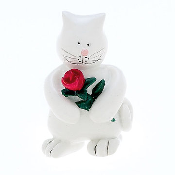 Jvj Hardware Novelty Collection White Kitten Knob
