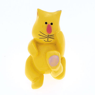 Jvj Hardware Novelty Collection Yellow Cat Knob