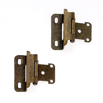 Jvj Hardware Partial Wrap Overlay Self Closing Hinge