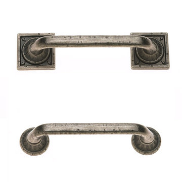 Jvj Hardware Pompeii Collection Pitted Pull With Round And Square Backplates