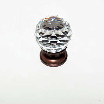 Jvj Hardware Pure Elegance 1 3/16 Inch Faceted Lead Crystal Ball Knob