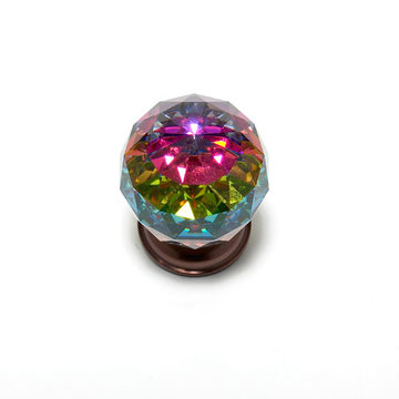Jvj Hardware Pure Elegance 1 3/16 Inch Faceted Lead Crystal Prism Ball Knob