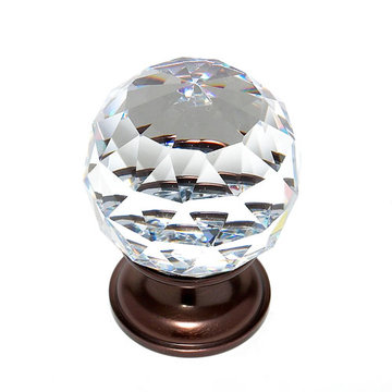 Jvj Hardware Pure Elegance 1 9/16 Inch Faceted Lead Crystal Ball Knob