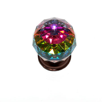 Jvj Hardware Pure Elegance 1 9/16 Inch Faceted Lead Crystal Prism Ball Knob