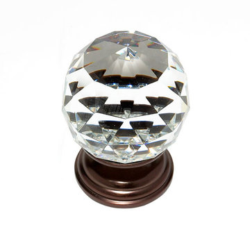 Jvj Hardware Pure Elegance 2 Inch Faceted Lead Crystal Ball Knob
