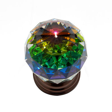 Jvj Hardware Pure Elegance 2 Inch Faceted Lead Crystal Prism Ball Knob