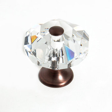 Jvj Hardware Pure Elegance Octagon Faceted Lead Crystal 1 3/8 Inch Knob