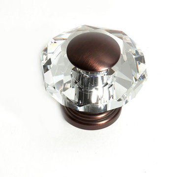 Jvj Hardware Pure Elegance Octagon Faceted Lead Crystal 2 Inch Knob