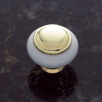 Jvj Hardware Vintage Collection Round Ceramic Knob With Large Center