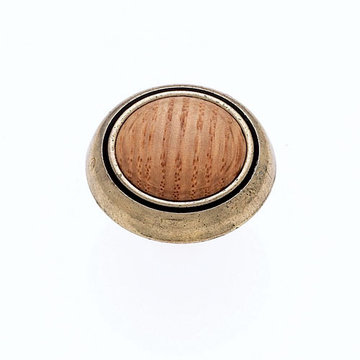Jvj Hardware Vintage Collection Round Knob With Oak Inset