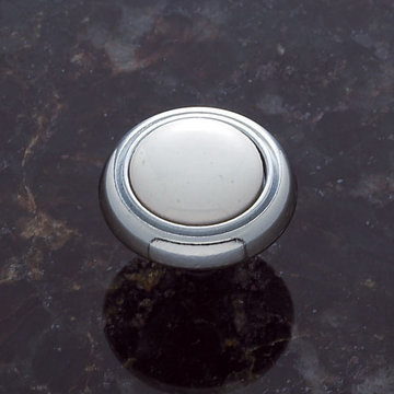Jvj Hardware Vintage Collection Round Knob With White Porcelain Inset
