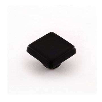 Nifty Nob Black Square Cabinet Knob