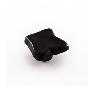 Nifty Nob Black Uneven Square Knob