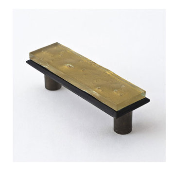 Nifty Nob Champagne Gold Pull In Oil Rubbed Bronze Finish
