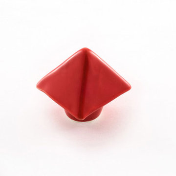Nifty Nob Cherry Red Pyramid Cabinet Knob