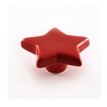 Nifty Nob Cherry Red Star Cabinet Knob