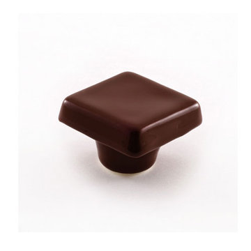Nifty Nob Chestnut Brown Square Cabinet Knob