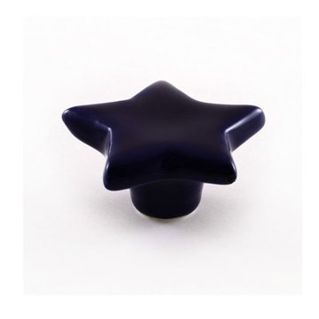 Nifty Nob French Blue Star Cabinet Knob