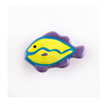 Nifty Nob Horizontal Striped Tropical Fish Knob