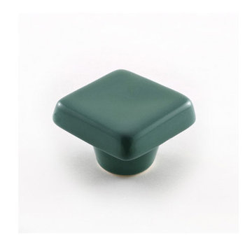 Nifty Nob Leaf Green Square Cabinet Knob
