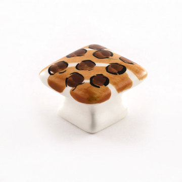 Nifty Nob Leopard Domed Square Knob