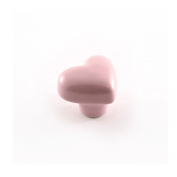 Nifty Nob Light Pink Heart Cabinet Knob