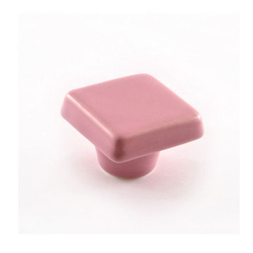 Nifty Nob Light Pink Square Cabinet Knob