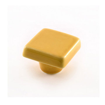 Nifty Nob Tuscan Yellow Square Cabinet Knob