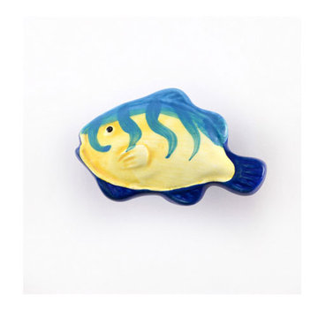 Nifty Nob Vertical Striped Tropical Fish Knob