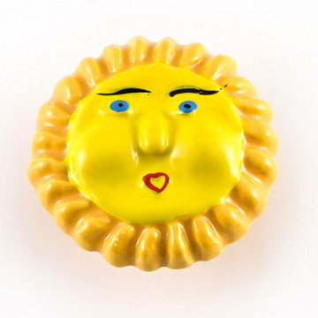 Nifty Nob Yellow Sun Cabinet Knob