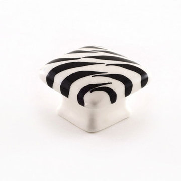 Nifty Nob Zebra Domed Square Knob