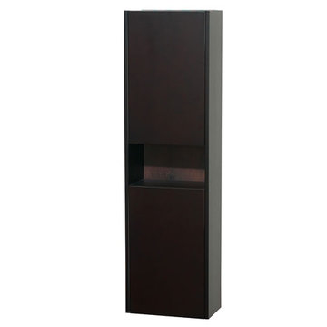 Wyndham Diana Bathroom Wall Cabinet In Espresso Finish