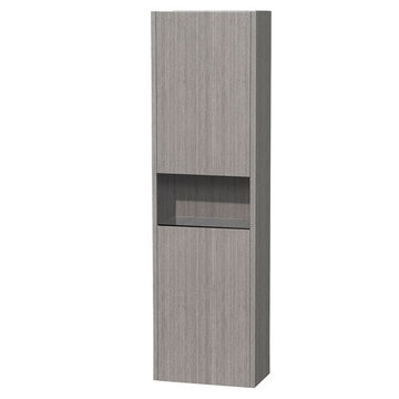 Wyndham Diana Bathroom Wall Cabinet In Gray Oak Finish