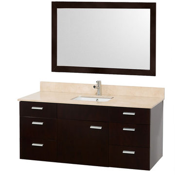 Wyndham Encore 52 Inch Single Bathroom Vanity With Ivory Marble Top