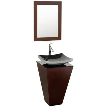 Wyndham Esprit Custom Bathroom Vanity With Black Granite Sink