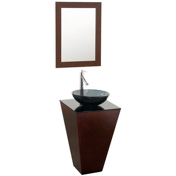 Wyndham Esprit Custom Bathroom Vanity With Smoke Glass Sink