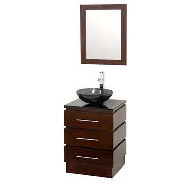 Wyndham Rioni Vanity With Matching Mirror And Smoke Glass And Sink