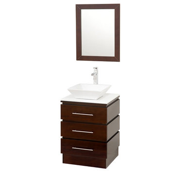 Wyndham Rioni Vanity With Matching Mirror And White And Sink