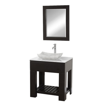Wyndham Zen Ii Modern Vanity With Carrera Marble Sink